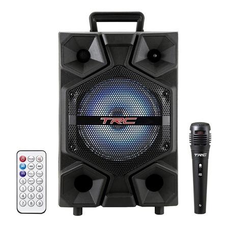 Caixa de som TRC Sound Power TRC 512 portátil com bluetooth  preta 110V/220V