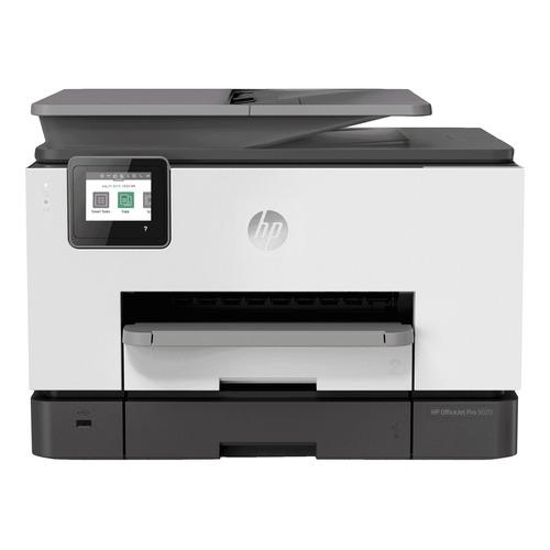 Impresora a color multifunción HP OfficeJet Pro 9020 con wifi blanca y negra 100V/240V 1MR69C