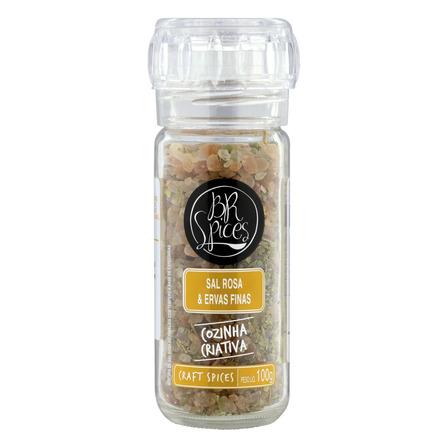 Sal rosa do himalaia com moedor BR Spices Craft Spices Ervas Finas sem glúten 100g