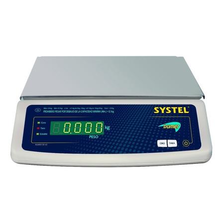 Balanza comercial digital Systel Bumer 31kg 110V/220V blanco