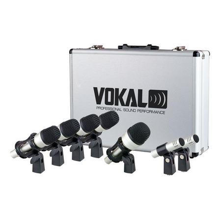 Microfones Vokal VDM-7 condensador, dinâmico preto/prata