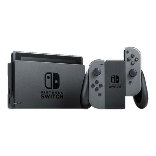 Nintendo Switch 32gb Standard Cor  Cinza E Preto
