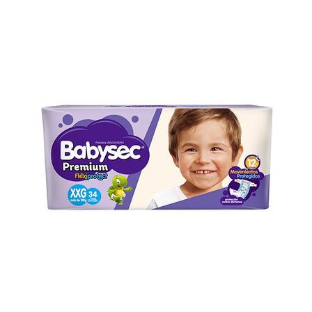 Pañales Babysec Premium Hiper Pack  XXG 34u