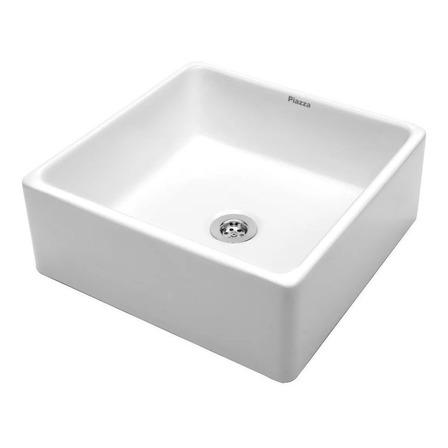 Bacha de baño de apoyar Piazza A037 blanco esmaltado