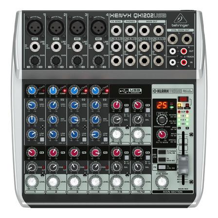Consola Behringer QX1202USB Xenyx de mezcla 120V