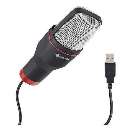 Micrófono Steren MIC-550 condensador negro