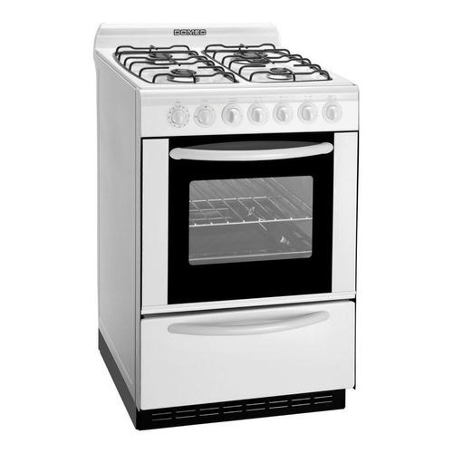 Cocina Domec CBULEAV multigas 4 hornallas  blanca 220V puerta  con visor