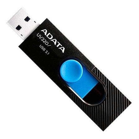 Memoria USB Adata UV320 128GB 3.1 Gen 1 negro y azul
