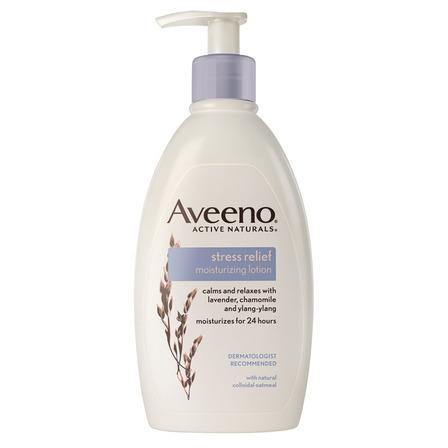 Crema líquida Aveeno Stress relief con dosificador 354ml