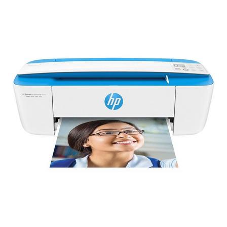 Impressora a cor multifuncional HP DeskJet Ink Advantage 3776 com wifi 100V/240V branca e azul