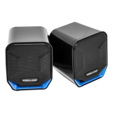 Caixa de som Voxcube VC-D360 portátil Preto/Azul