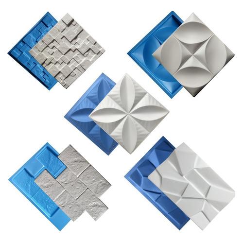 5 Formas Gesso Plástico E Eva Para Placa 3d - Lançamento