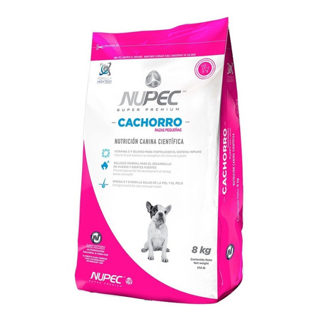 Alimento Nupec Nutrición Científica Raza Pequeña para perro cachorro de raza pequeña sabor mix en bolsa de 8kg