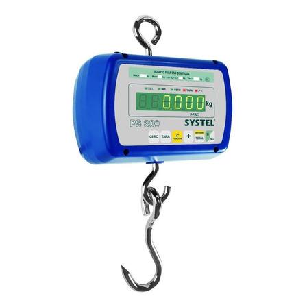 Balanza industrial digital colgante Systel Pilon PS 300kg 110V/220V azul