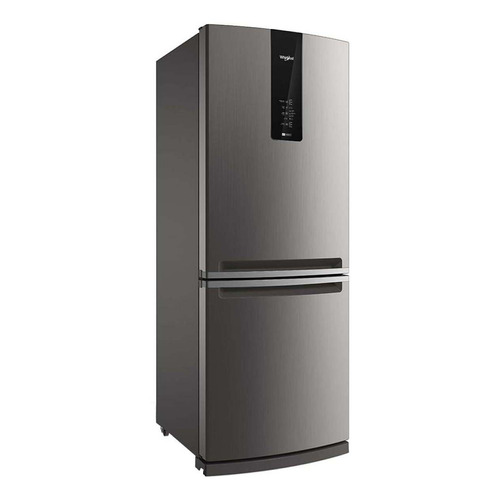 Heladera no frost Whirlpool WRE57 inox con freezer 443L 220V