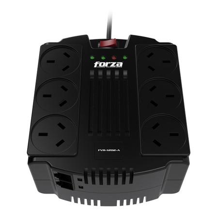 Regulador de voltaje Forza FVR 1200VA Series FVR-1202A 1200VA entrada y salida de 220V CA negro