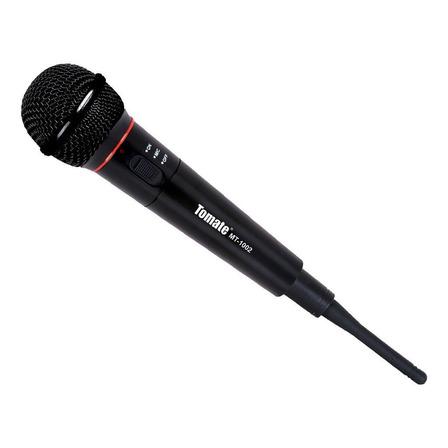 Microfone sem fio Tomate MT-1002 preto