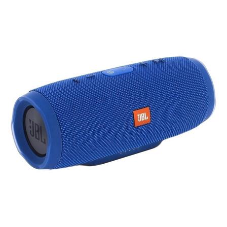 Caixa de som JBL Charge 3 portátil com bluetooth blue
