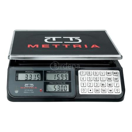 Báscula comercial digital Mettria MTBLACK-40 40kg negro