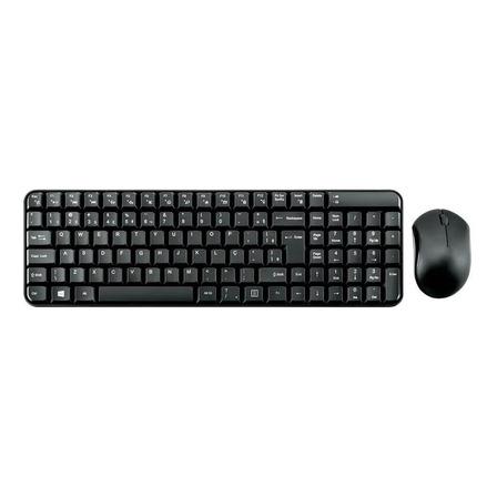Kit de teclado e mouse sem fio Multilaser TC183 Português Brasil de cor preto