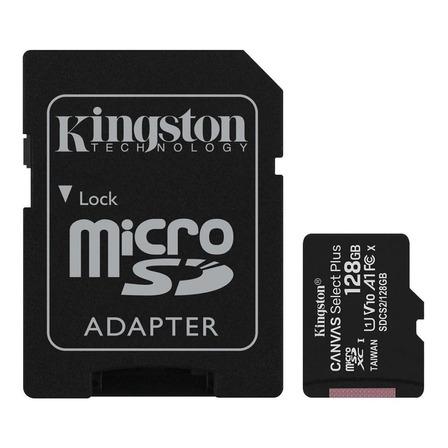 Cartão de memória Kingston SDCS2  Canvas Focus com adaptador SD 128GB