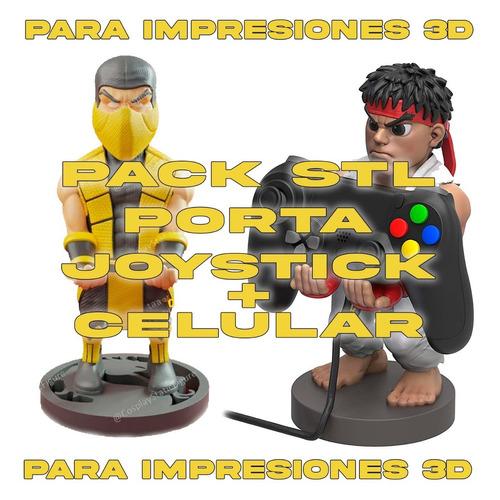 Pack Stl Soporte Joystick Y Celular - El Mas Completo