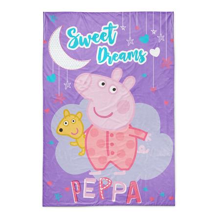 Frazada Piñata Flannel 1 1/2 plaza Peppa Pig Sweet Dreams