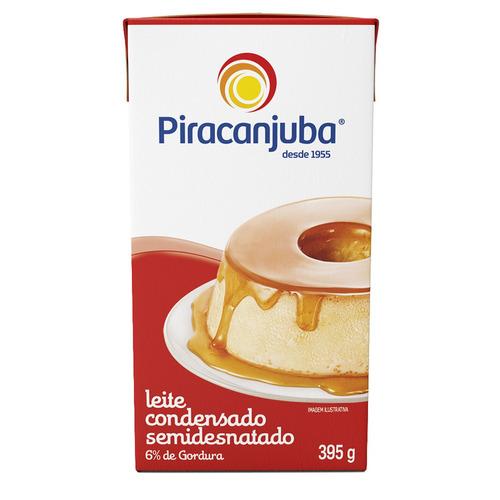 Leite Condensado Semidesnatado Piracanjuba Caixa 395g