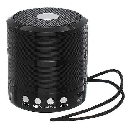 Caixa de som Grasep D-BH887 portátil com bluetooth  preta