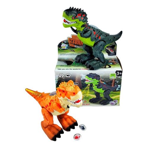 Dinosaurio Tiranosaurio Pone Huevos Camina Luces 4d Sonido