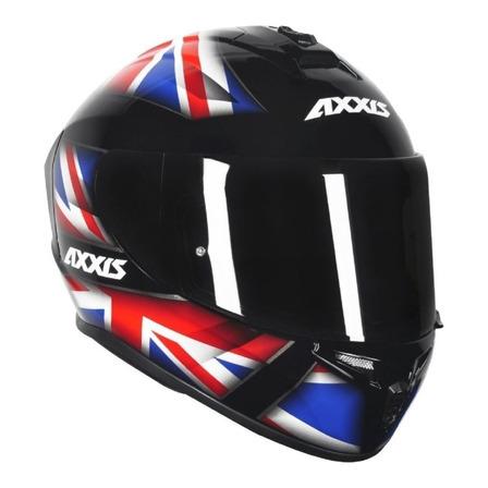 Capacete para moto  integral Axxis Helmets Draken  UK Gloss  black, red e blue tamanho 58