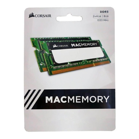Memória RAM 8GB 2x4GB Corsair CMSA8GX3M2A1333C9 Mac Memory
