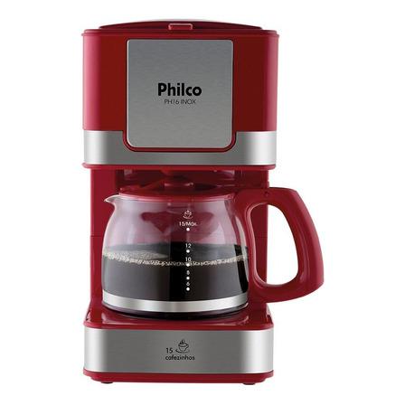 Cafeteira Philco PH16 Inox vermelha 110V