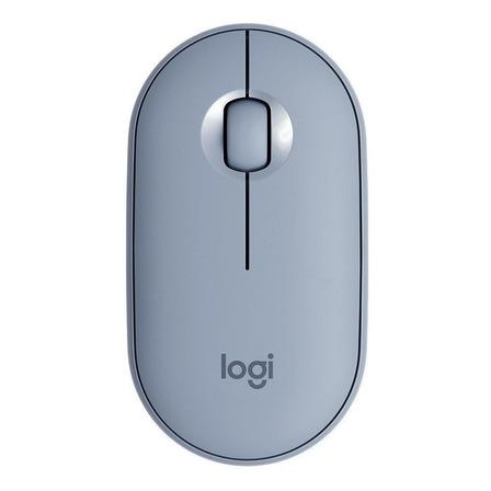 Mouse sem fio Logitech Pebble M350 cinza-azulado