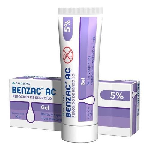 Benzac Gel Peróxido Benzoilo 5% Elimina Acné Puntos Negros
