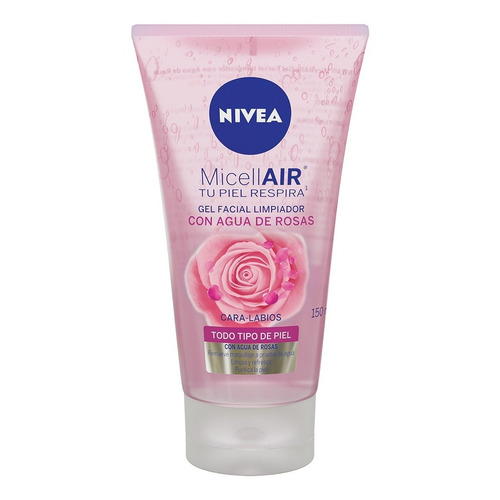 Gel Facial Desmaquillante Nivea Agua De Rosas 150 Ml