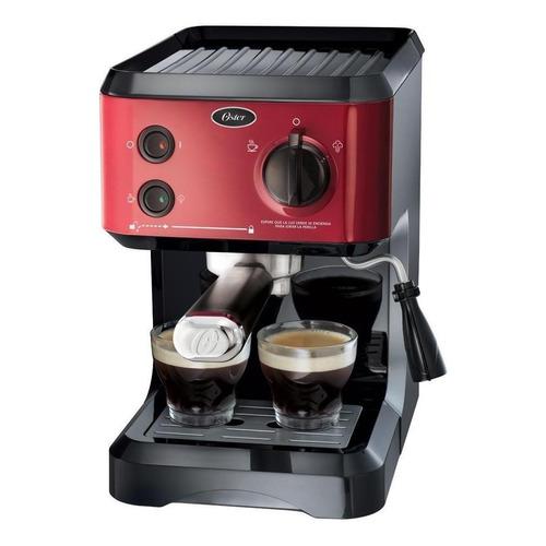 Cafetera Oster BVSTECMP65R automática roja para expreso y cápsulas monodosis 220V