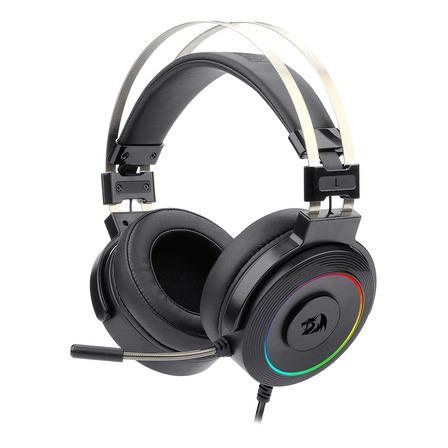 Auriculares gamer Redragon Lamia RGB negro con luz rgb