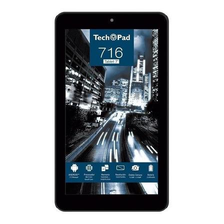 """Tablet  Tech Pad 716 7"""" 16GB negra con 1GB de memoria RAM"""