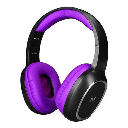 Auriculares inalámbricos Noga Aris NG-BT469 violeta y negro