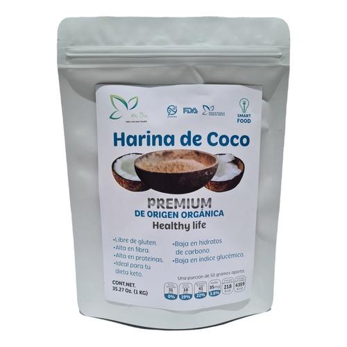 1 Kg Harina De Coco Sin Gluten Sin Azúcar  Para Dieta Keto
