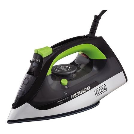 Ferro de passar a vapor Black+Decker FX2700 cor preto e verde 127V