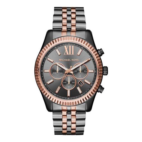 Reloj Michael Kors Mk8561 Gris/oro Rosa Hombre