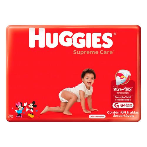 Fraldas Huggies Supreme Care G 64u