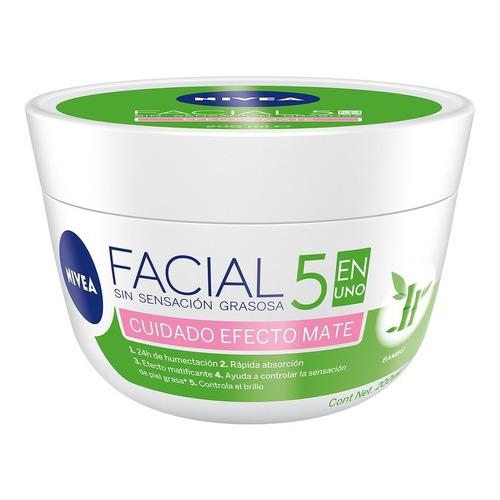 Nivea Crema Facial Hidratante 5 En 1 Efecto Mate, 200ml