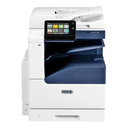 Impressora a cor multifuncional Xerox VersaLink C7020 com wifi branca e azul 110V - 127V