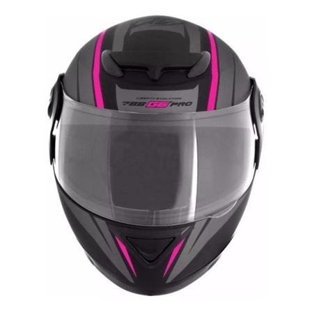 Capacete para moto integral Pro Tork Evolution G6 Pro preto e rosa tamanho 58
