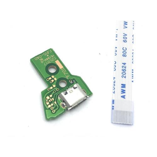 Pin Carga Jds040 + Flex  12 Pines Joystick Ps4 V2 Jds-040