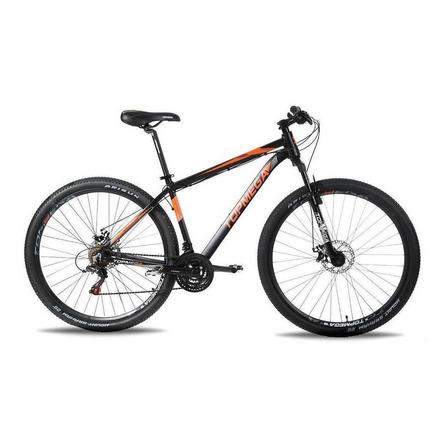 Mountain bike TopMega Regal R29 M 21v frenos de disco mecánico cambios Shimano Tourney color naranja