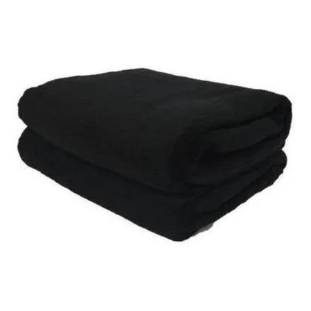 Cobertor Life Tex II Microfibra Casal preto liso